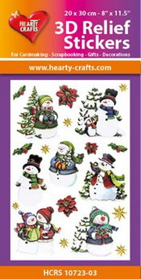 Hearty Crafts 3D Relief Stickers - snowmen