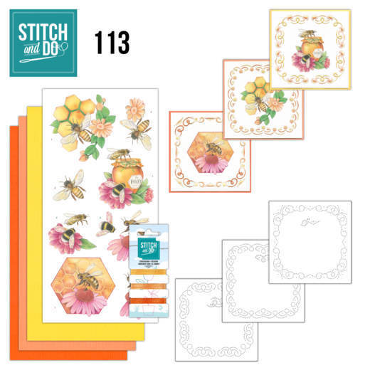 Stitch and Do Pakket 113 - honey bees
