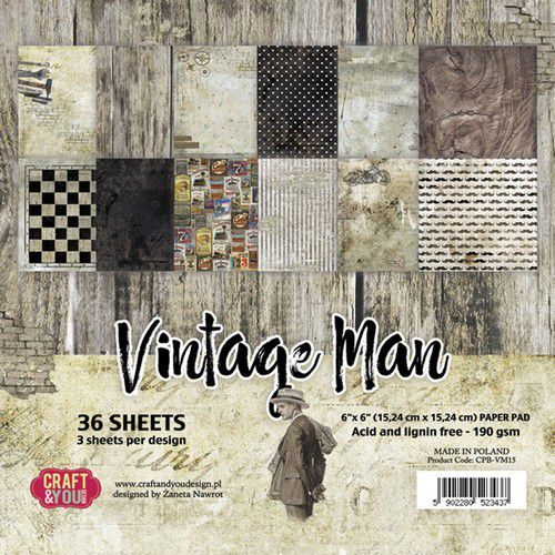 Paper Pad Craft & You - Vintage Man (6 x 6 inch)