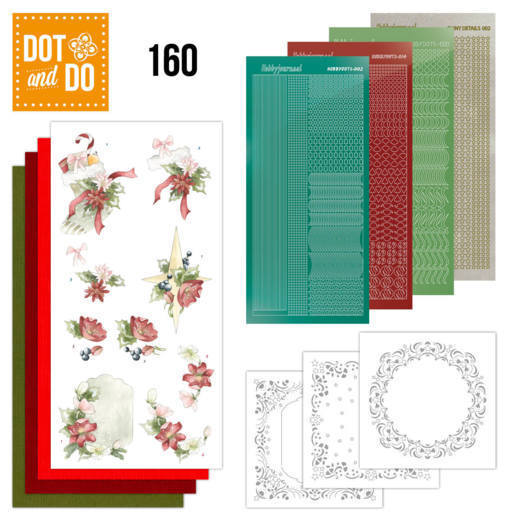 Dot & Do Hobbydots Pakket - red christmas ornaments