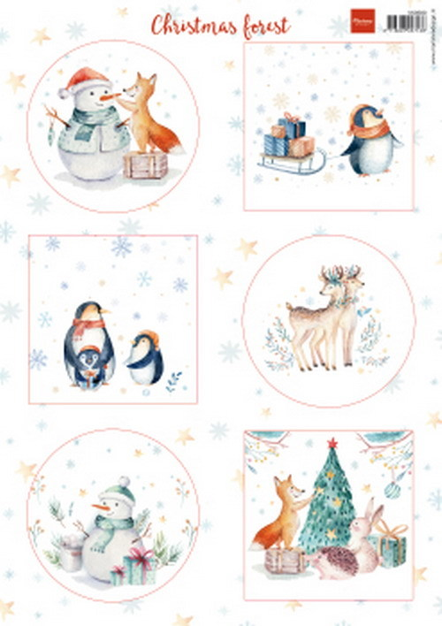 Knipvel Marianne Design - christmas forest