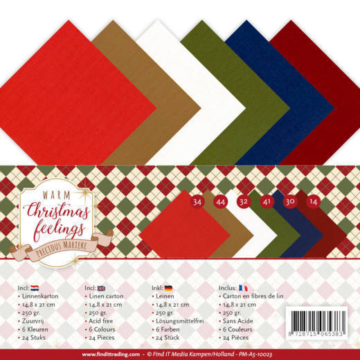Linnenkarton Precious Marieke - Warm Christmas Feelings (A5)