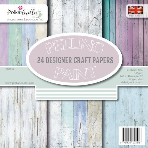 Paper Pad Polkadoodles - Distressed Wood