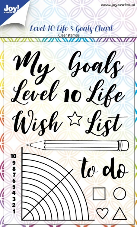 Joy Clearstamps - level 10 life & goals chart