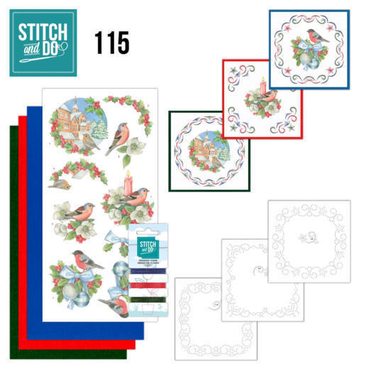 Stitch and Do Pakket 115 - christmas birds