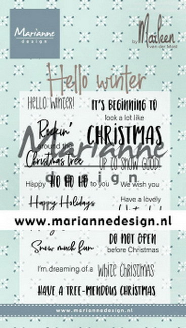 Clearstamps Marianne Design - Hello Winter
