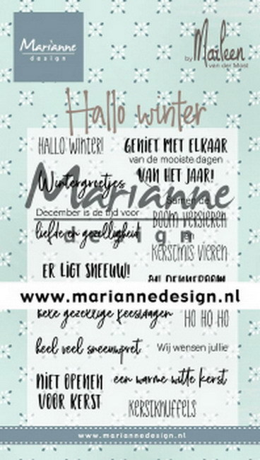 Clearstamps Marianne Design - Hallo Winter
