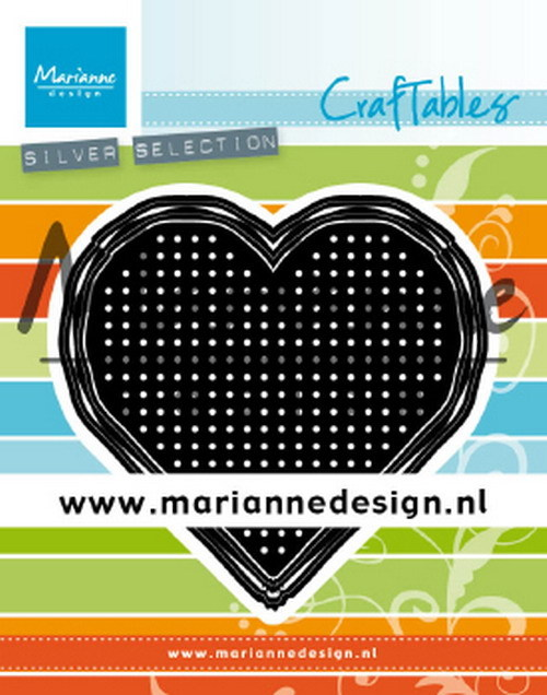 Craftables Marianne Design - cross stitch heart
