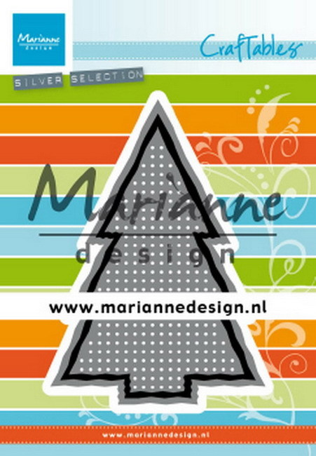 Craftables Marianne Design - cross stitch kerstboom