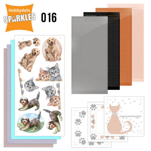 Hobbydots Sparkles Set 016 - cats & dogs
