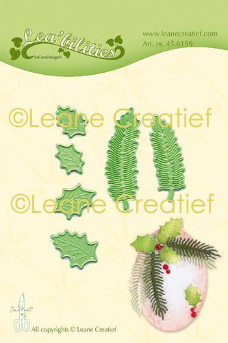Leane Creatief Lea'bilities Stans - holly & pine branches small