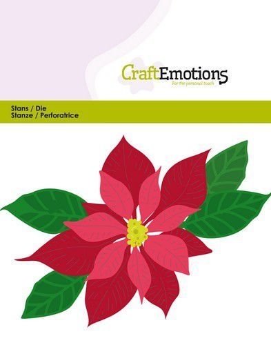 Craft Emotions Stans - poinsettia