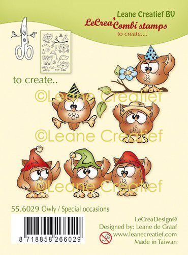 Clearstamps Leane Creatief - Owly - special occasions