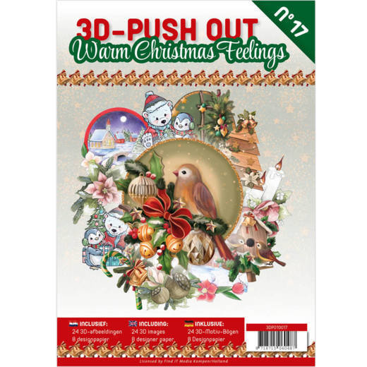 3D Push Out Book - Warm Christmas Feelings