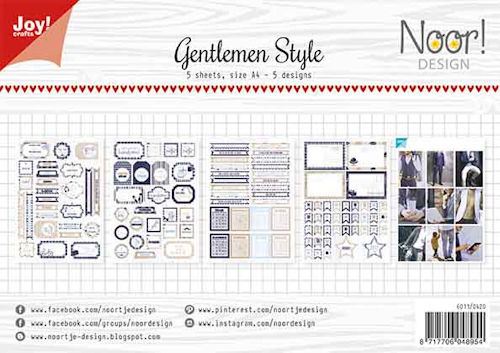 Joy Paper Pack - Gentlemen Style Labelsheets