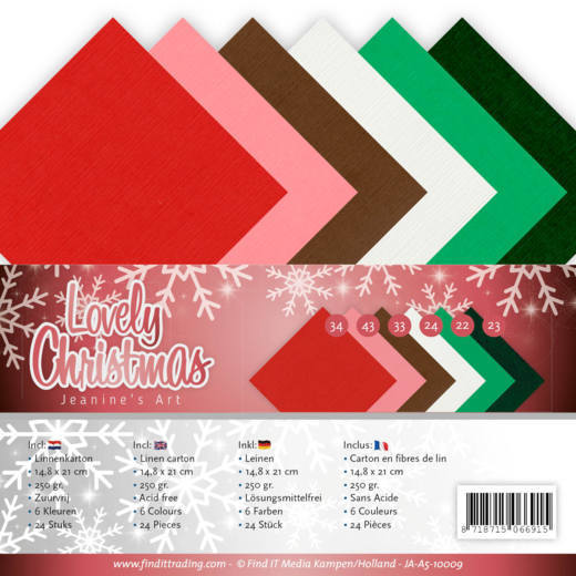 Linnenkarton Jeanine's Art - Lovely Christmas (A5)