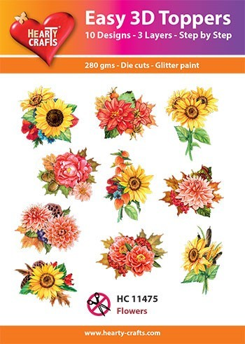Easy 3D Toppers - flowers