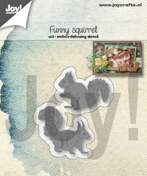 Joy Stencil - funny squirrel