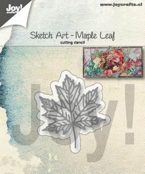 Joy Stencil - Sketch Art - maple leaf