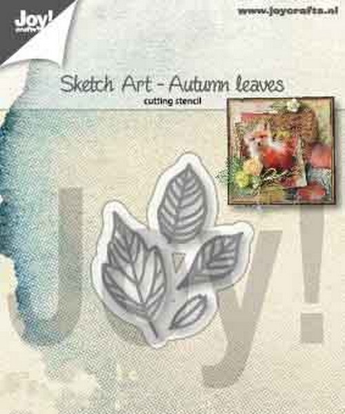 Joy Stencil - Sketch Art - autumn leaves