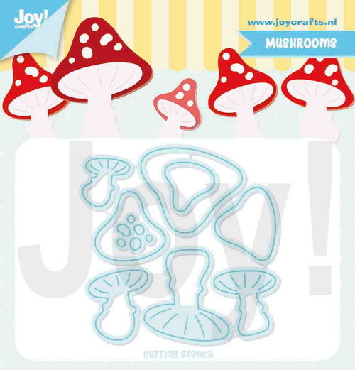 Joy Stencil - Jocelijne - mushrooms