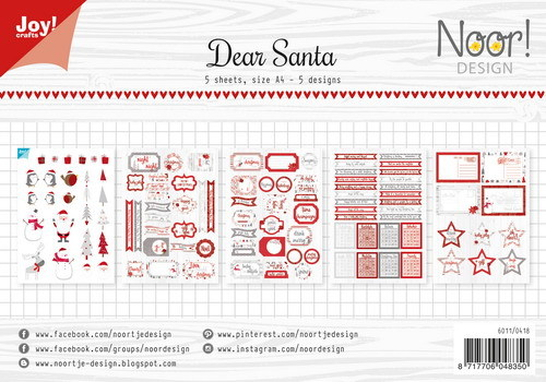 Joy Paper Pack - Label Sheets - Dear Santa