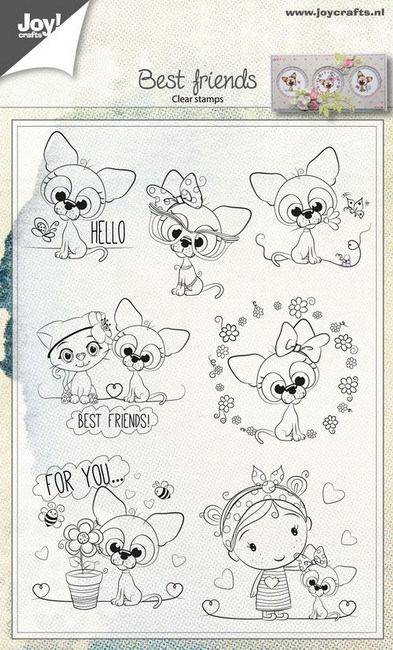 Joy Clearstamps - best friends