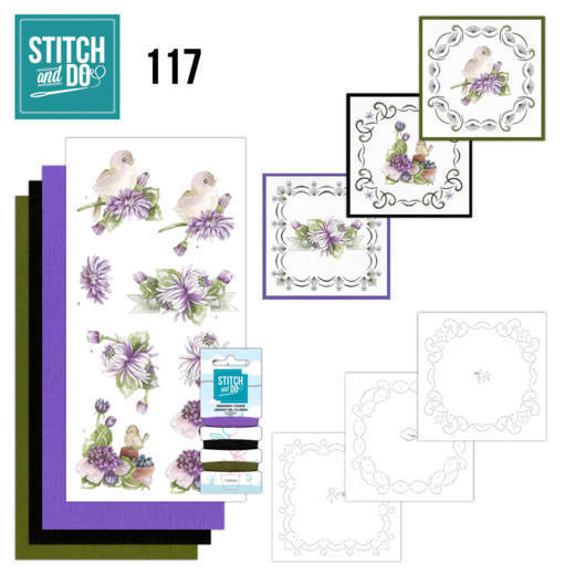 Stitch and Do Pakket 117 - chrysanthemum