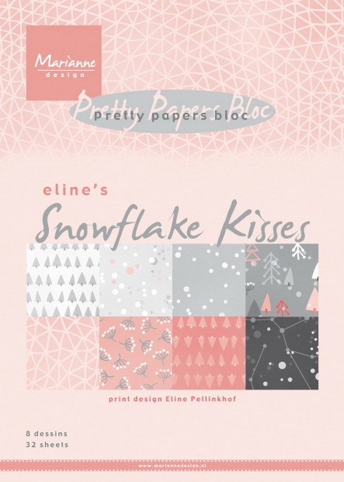 Pretty Papers Bloc - Eline's Snowflake Kisses