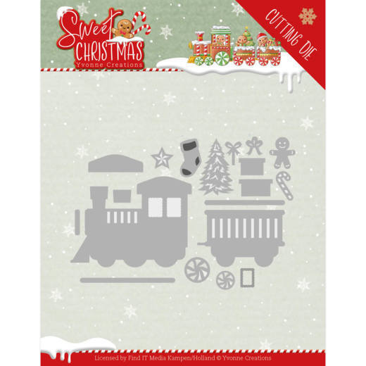 Yvonne Creations Stans - Sweet Christmas - train