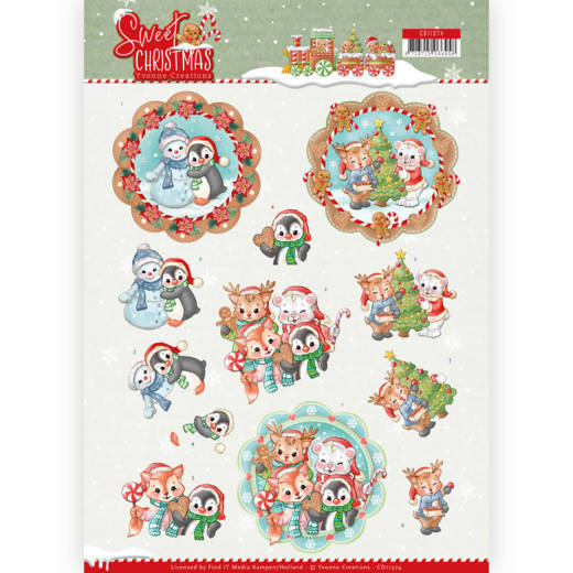 Knipvel Yvonne Creations - Sweet Christmas CD11374