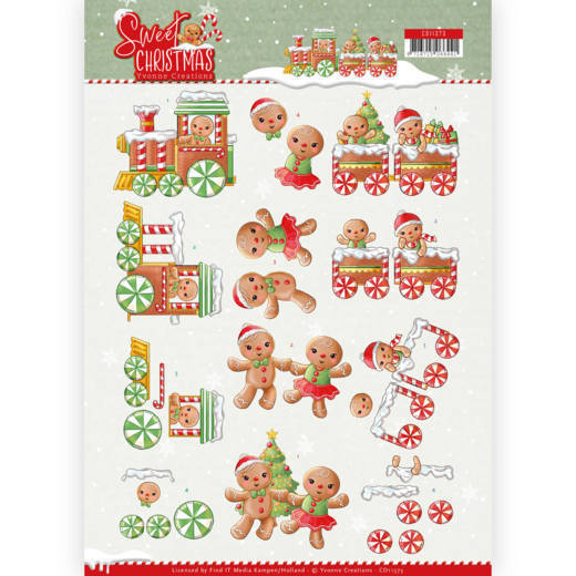 Knipvel Yvonne Creations - Sweet Christmas CD11373