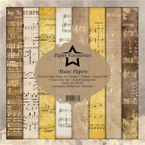 Paper Pad Dixi Craft - music papers