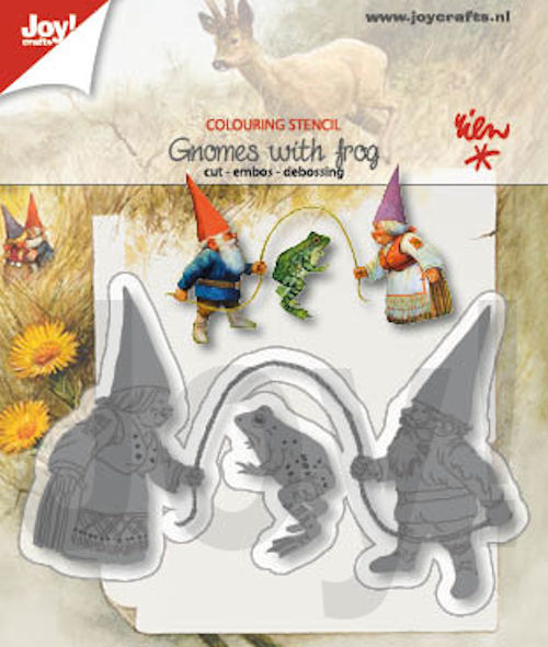 Joy Stans - Rien Poortvliet - gnomes with frog