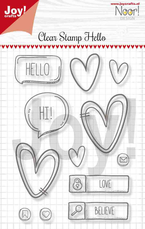 Joy Clearstamps - Hello