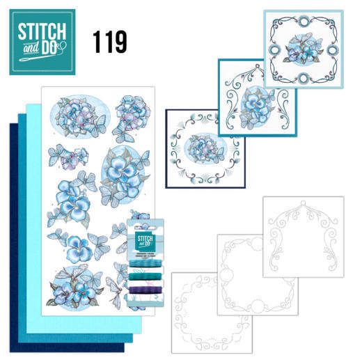 Stitch and Do Pakket 119 - Blue Butterflies