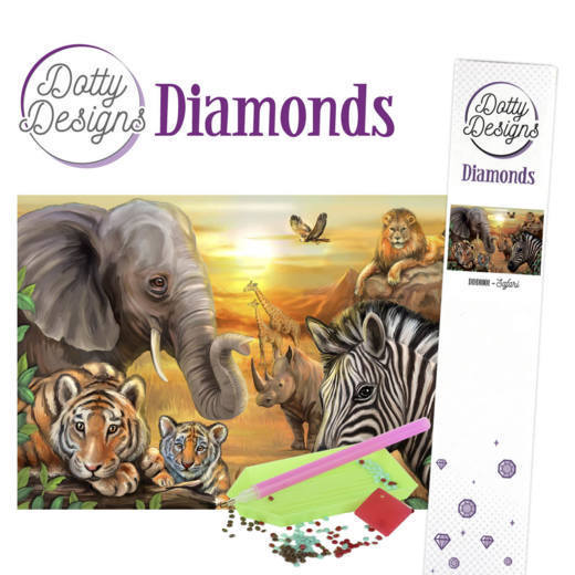 Dotty Designs Diamond Painting Pakket - safari