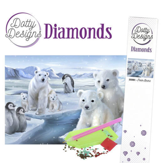 Dotty Designs Diamond Painting Pakket - polar bears