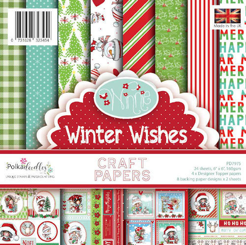 Polkadoodles Paper Pack - Winnie Winter Wishes
