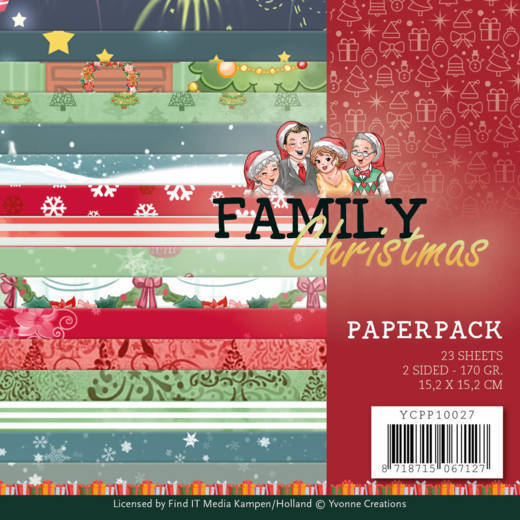 Paper Pack Yvonne Creations - Family Christmas