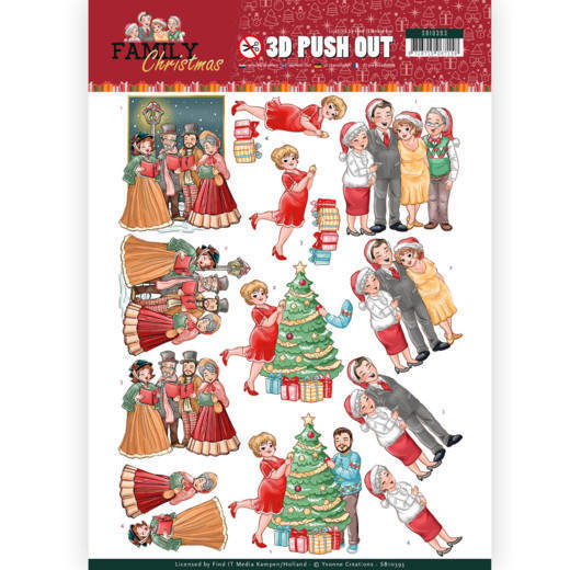 Stansvel Yvonne Creations - Family Christmas SB10393