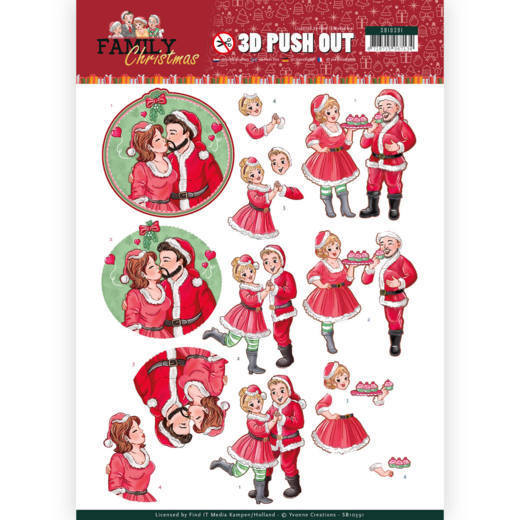 Stansvel Yvonne Creations - Family Christmas SB10391
