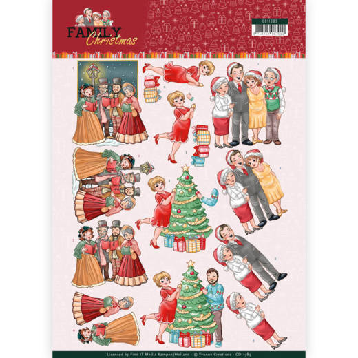 Knipvel Yvonne Creations - Family Christmas CD11389