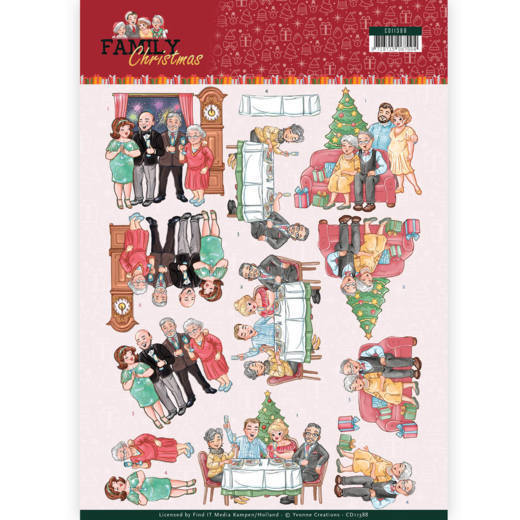 Knipvel Yvonne Creations - Family Christmas CD11388