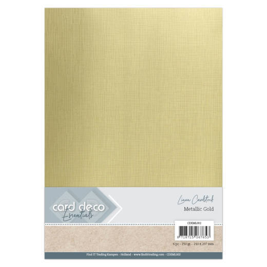 Card Deco Essentials - Linen Cardstock - metallic gold