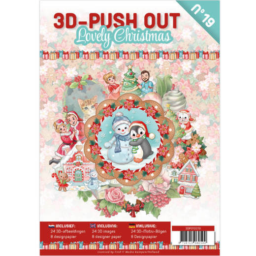 3D Push Out Book - lovely christmas