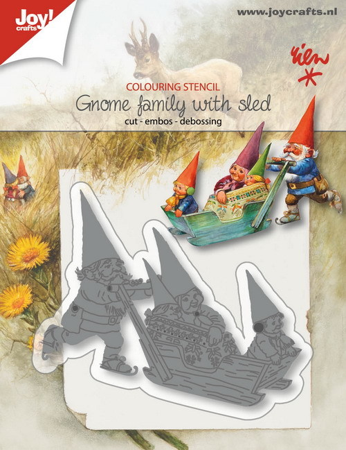 Joy Stans - Rien Poortvliet - gnome family with sled