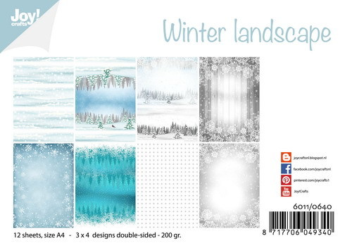 Joy Paper Pack - Winter Landscape