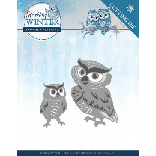 Yvonne Creations Stans - Sparkling Winter - winter owls