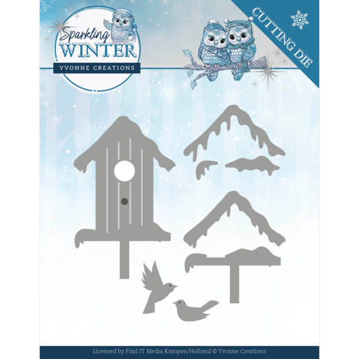 Yvonne Creations Stans - Sparkling Winter - winter birdhouse